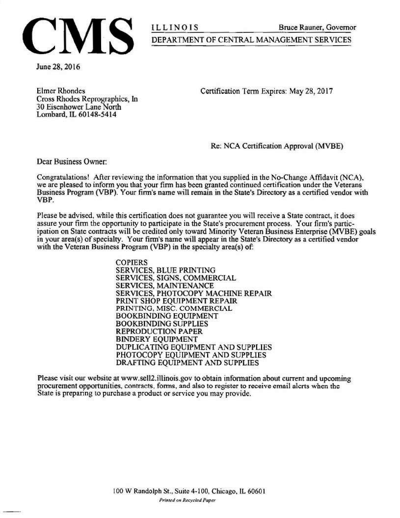 28 Certification Letter From Cms